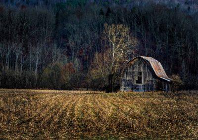 barn art prints barn in corn field after harvest