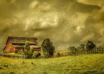 barn art prints red barn with stormy sky