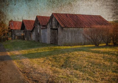 barn prints small shed barns in row of four