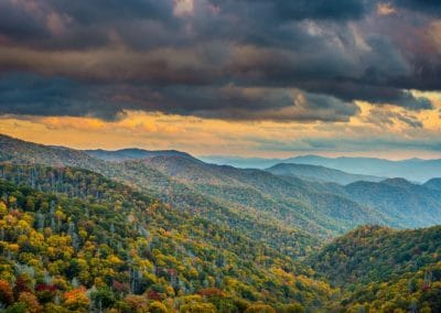 ijams nature center photo exhibit image of smoky mountains under dark clouds